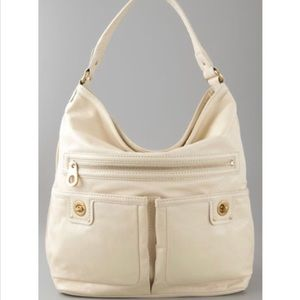 Marc by Marc Jacobs cream & gold leather hobo bag